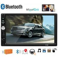 """7"""" Inch Car Stereo Radio HD MP5 Player 2DIN Touch Screen Bluetooth USB TF AUX IN"""
