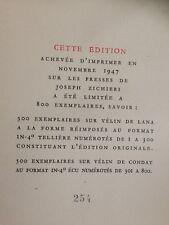 MARCEL JOUHANDEAU /CARNETS DE DON JUAN / EO/ grand papier 1/300 -1947