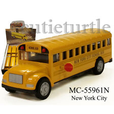 "5"" New York City Long School Bus Diecast Toy Car MC-55961N Yellow"