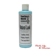 Poorboys World Natural Look Leather, Plastic, Vinyl, Rubber Cleaner Dressing