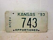 Vintage License Plate - Kansas 1993 - TRUCK APPORTIONED