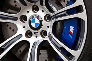 4 M Bremssattel M Power Sticker silber matt Bremse Aufkleber BMW 48mm 5er 4er X5