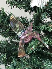 3 x Iridescent Pink Humming Birds Hanging Decoration Christmas Tree Decorations