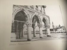 Vintage Silk Litho Print, Pencil Signed D' Amico - Venezia, Palazzo Ducale Italy