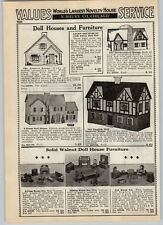 1939 PAPER AD Keystone Doll Houses Old English Half Timber Tudor Birchwood