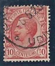 """47614 -- ITALIA Regno - Sassone 82q USATO  varieta': """"1"""" formato da 4 punti"""