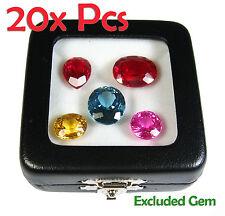 20 PCS OF TOP GLASS DISPLAY BOX SHOW JEWELRY GEM DIAMOND COIN 5.8x5.8 CM NEW