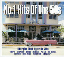 No. 1 HITS OF THE 50s - 2 CD BOX SET - ELVIS, BILL HALEY, PAUL ANKA & MORE