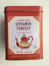 TRADER JOES CINNAMON TEMPEST TEA Container Tin Empty Box