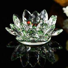 Crystal Lotus Flower Candle Stand Holder Tea Light Deco US Seller