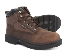 NEW SKECHERS MAKANIX WORK BOOTS LEATHER SAFETY TOE W/ MEMORY FOAM MENS 9
