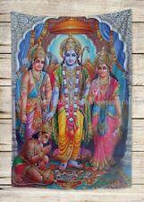 US SELLER, room wall decor Sri Ram Parivar tapestry cloth poster