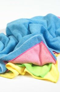 Cleaning Cloths. Colour coded cleaning. 4 colours, 10 of each, microfibre 40x40