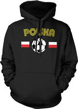 Poland European National Soccer Team The White Eagles Soccer Hoodie Pullover