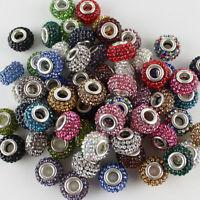 10pcs Czech Crystal Big Hole Spacer Beads fit European Charm Bracelet Necklace
