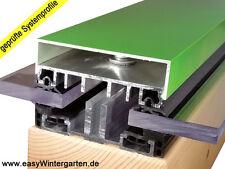 Verlegeprofile Mittelprofil für flache Glasdächer 80 für VSG Glas - Stegplatten