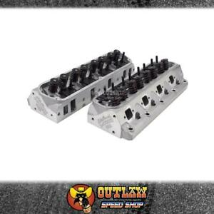 EDELBROCK CYLINDER HEADS ALLOY E STREET FITS FORD WINDSOR COMPLETE PAIR - ED5025
