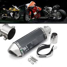 36-51mm Universal Motorrad Auspuff Schalldämpfer Exhaust Muffler Carbon INOX DHL