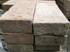 Blockstufen 75x15x35cm Granit rot grob geschlagen Trittstufe