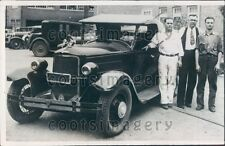 1936 Wichita KS Man B Preston With Auto He Assembled from Wrecks Press Photo