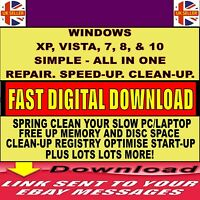 PC REPAIR SPEED BOOST OPTIMISE SPEED UP SLOW PCs CLEAN FIX TUNE-UP TOOL DOWNLOAD