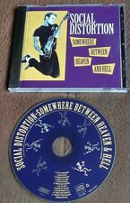 SOCIAL DISTORTION SOMEWHERE BETWEEN HEAVEN & HELL 1992  CD  PUNK HARDCORE