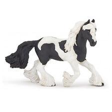 Papo 51550 Irish Cob Black Pinto Mare Horse Model Gypsy Vanner - NIP