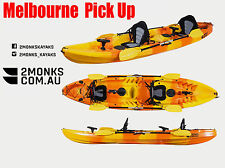 Fishing Kayak Canoe 2.5 Double Family 3.7M 2 Rod Holders seat Paddle Melbourne