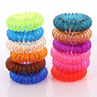 5/10Pcs Women Girls Elastic Rubber Hair Ties Bands Ponytail Holder Hair Rings