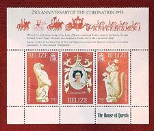 Belize MNH souvenir sheet - Queen Elizabeth II Coronation Silver Jubilee