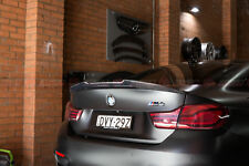 BMW F82 M4 Coupe PSM Style Carbon Fiber Rear Trunk Lip Spoiler (CF)