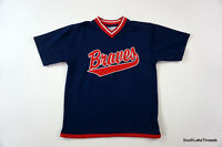 Vintage Boys Medium 10-12 MLB Atlanta Braves Spellout Jersey