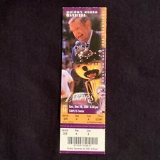 CHICK HEARN L.A. LAKERS Ticket Stub - Last Game In 3,338 Game Streak - 2001