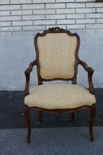 Great 19th C. French Louis XV Walnut Desk, Side, Accent Armchair, New Upholstery