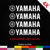 Stickers YAMAHA 4 Autocollants Moto Adhésifs Déco Scooter Bécane