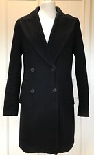 CLASSIC LADIES ZARA BASIC NAVY DOUBLE BREASTED WOOL MIX COAT SIZE M