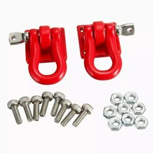 Rc car scale crawler truck towing shackles x2 red 1/10