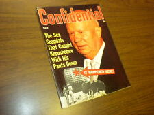 CONFIDENTIAL magazine 1965 March - movies tv politics actors sex adult