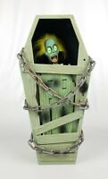 """Halloween Wall Decoration Of Zombie In A Coffin Makes Sounds 18"""" Tall"""