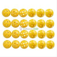 50Pcs Golf Practice Plastic Whiffle Airflow Hollow Sports Training Balls BEST