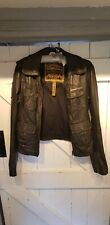 Superdry leather jacket sz medium