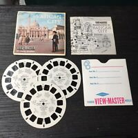Vintage View-Master 3-Reel Set Vatican City  Complete A380