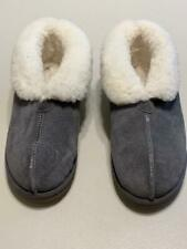 Sheepskin Shearling Gray Bootie Slippers Size 10 Mens  12 Womens NEW