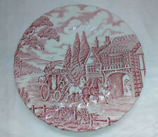 "Vintage Myott Pink ""Royal Mail"" 8""/ 20cm Side Plate - FREE P+P"