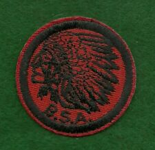 VINTAGE  BOY SCOUT PATROL RED & BLACK PATCH - INDIAN  - NEW