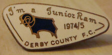 DERBY COUNTY Rare vintage 1974-5 JUNIOR RAM Badge Maker REEVES B'ham 37mm x 17mm