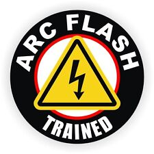 ARC Flash Trained Hard Hat Decal | Safety Helmet Sticker Label Electrician USA
