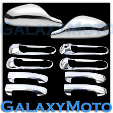 05-10 Dodge Dakota Chrome Non-Folding Mirror+ 4 Door Handle no PSG Keyhole Cover