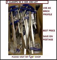 METAL F CLAMPS  50 X 300 MM  32pc PACK  IDEAL FOR BUILDING WORK *CHEAPEST*