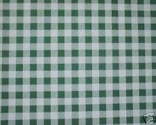1.4m/140cm quadrato PULIZIA PVC VINILE VERDE QUADRETTATO tela cerata pulibile
